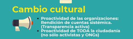 Infografía: Factores para una mayor transparencia: sencillez, facilidad y cambio cultural para lograr una mayor participación ciudadana y generar confianza por parte de las instituciones y administraciones públicas